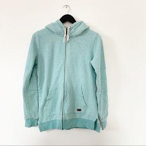 Roxy Aqua Long Hooded Sweater M